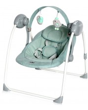 Leagan pentru bebelusi Lorelli - - Portofino, Frosty Green Stars -1