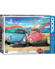 Puzzle Eurographics de 1000 piese - The VW Groovy Collection VW Beetle Love