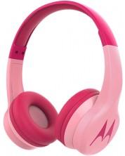 Casti wireless cu microfon Motorola - Squads 300, roze