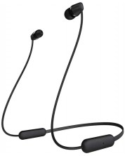 Casti wireless cu microfon Sony - WI-C200, negre