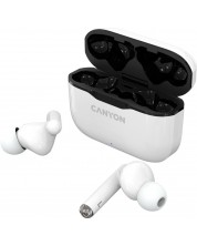 Casti wireless Canyon - TWS-3, albe