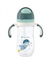 Sticla cu pai pentru bebelusi Kikka Boo Tritan - 300 ml, Superboy -1