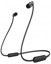 Casti wireless cu microfon Sony - WI-C310, negre