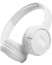 Casti wireless cu microfon JBL - Tune 510BT, albe