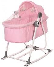 Patut cu balansoar pentru bebelusi Lorelli -  Alicante, grey -1