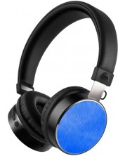 Casti wireless cu microfon  Xmart - 05R BL, albastru/negru