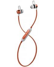 Casti wireless cu microfon Maxell - BT750, maro/alb