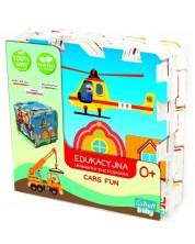 Puzzle de podea pentru bebelusi Trefl din 8 piese - Distractie cu masini