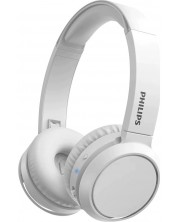 Casti wireless cu microfon Philips - TAH4205WT, albe