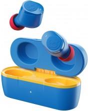 Casti wireless cu microfon Skullcandy - Jib True, TWS, albastre