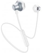 Casti wireless cu microfon AQL - Cliff, albe