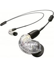 Casti wireless cu microfon Shure - SE215, transparente