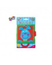 Jucarie pentru bebelusi Galt - Carte moale cu maner, animale de companie -1