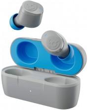Casti wireless cu microfon Skullcandy - Jib True, TWS, gri/albastre -1