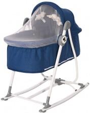 Patut cu balansoar pentru bebelusi Lorelli - Alicante, blue -1