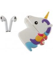 Casti wireless cu microfon Emoji - TWS, Unicorn
