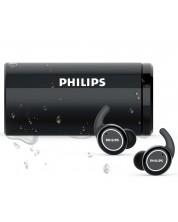Casti wireless  Philips ActionFit - TAST702BK, negre