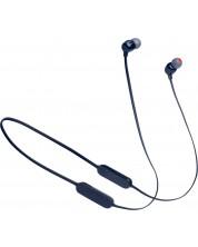 Casti wireless cu microfon JBL - Tune 125BT,  albastre