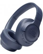 Casti wireless cu microfon JBL - Tune 710BT, albastre