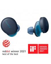 Casti wireles Sony - WF-XB700, albastre