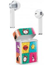 Casti wireless cu microfon Cellularline - Music Sound, True Wireless, albe