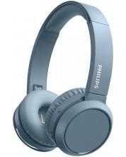 Casti wireless cu microfon Philips - TAH4205BL, albastre