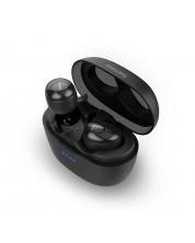 Casti wireless cu microfon Philips - TAT3215, TWS, negre