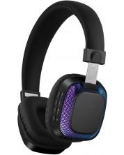 Casti wireless cu microfon Xmart - 07L, LED lights, negre