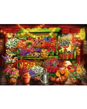 Puzzle Bluebird de 1000 piese - Flower Market Stall, Ciro Marchetti