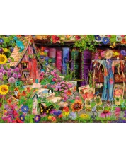 Puzzle Bluebird de 1000 piese - The Scarecrow's Garden, Aimee Stewart