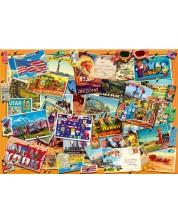 Puzzle Bluebird de 1000 piese - Postcard (USA), Gary Walton