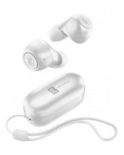 Casti wireless Cellularline - Pick, TWS, albe