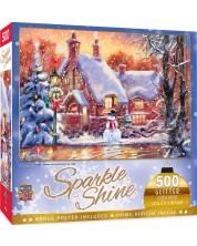 Puzzle starlucitor Master Pieces de 500 piese - Snowman cottage