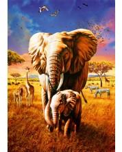 Puzzle Bluebird de 1000 piese - Elephant, Adrian Chesterman