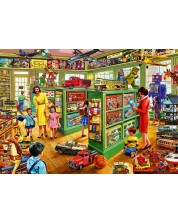 Puzzle Bluebird de 1000 piese -Toy Shop Interiors, Steve Crisp