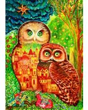 Puzzle Bluebird de 1000 piese - Owls, Oxana Zaika