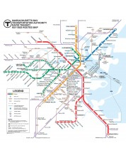 Puzzle New York Puzzle de 500 piese - Harta de transport, Boston