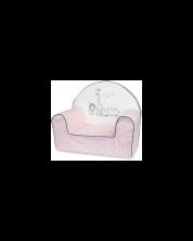 Bubaba Fotoliu pentru copii Safari roz -1