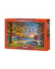 Puzzle Castorland de 1500 piese - Plimbare toamna, Central Park