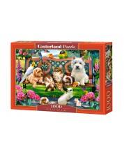 Puzzle Castorland de 1000 piese - Animale de companie in parc, Howard Robinson