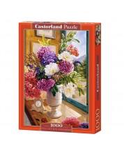 Puzzle Castorland de 1000 piese - Natura statica cu hortensii