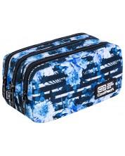 Penar scolar dreptunghiular Cool Pack Primus - Blue Marine, cu 3 compartimente