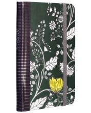 Carnetel cu elastic Carny - A6, 80 file, verde inchis -1