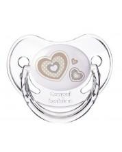 Suzeta din silicon Canpol Newborn Baby - 6-18 luni, alba -1