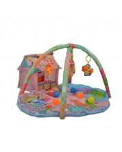 Salteluta pentru gimnastica bebelusului Cangaroo - Happy Farm, roz -1