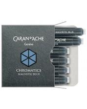 Rezerve stilou Caran d'Ache Chromatics –  Albastru magnetic, 6 bucati -1