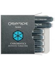 Rezerve stilou Caran d'Ache Chromatics – Turcoaz, 6 bucati -1