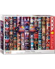 Puzzle Eurographics de 1000 piese - Totemuri canadiene