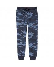 Pantaloni sport  Carter's, cu imprimeu camuflaj albastru, 116 cm, 6 ani -1