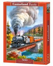 Puzzle Castorland de 500 piese - Trecerea trenului